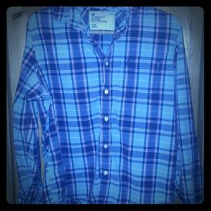 Mens American Eagle Button Up  Shirt Size L EUc